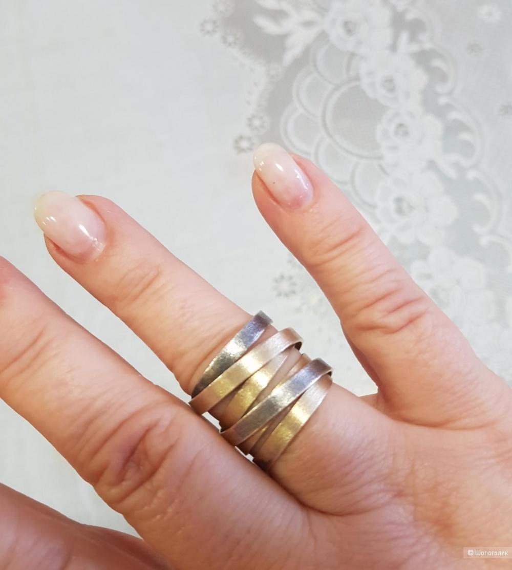 Серебряное кольцо No Name. Размер 18