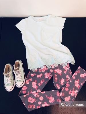 Сет из 2-х вещей на девочку ( футболка Zara, p128; Леггинсы OVS, 134)