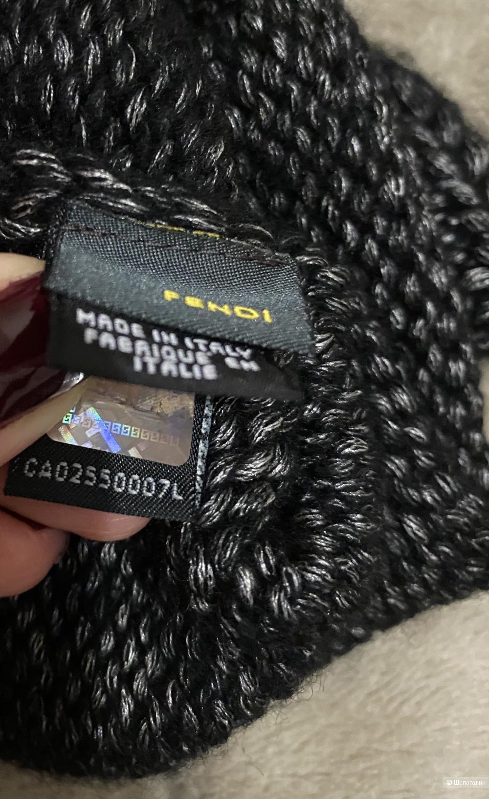 Комплект Шапка и шарф  Fendi , размер единый