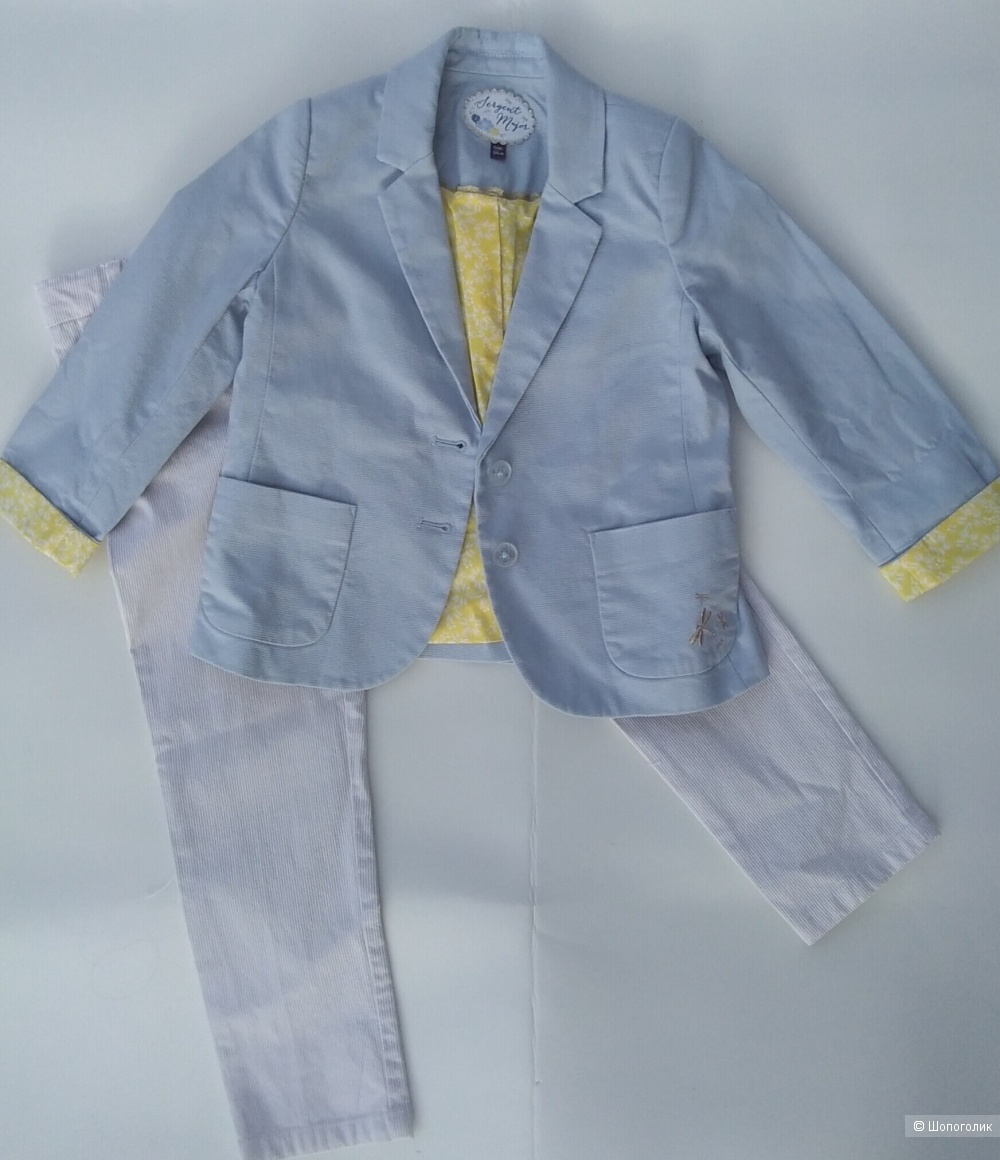 Сет для девочки: брюки, пиджак Sergent major 104-110 см