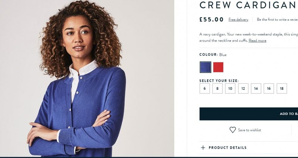 Кардиган,  Crew Clothung CO, 48-46