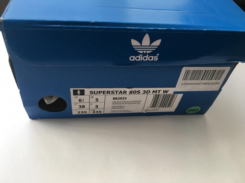 Кросовки ADIDAS ORIGINALS Superstar 80s 3D, 36-5-37р-р
