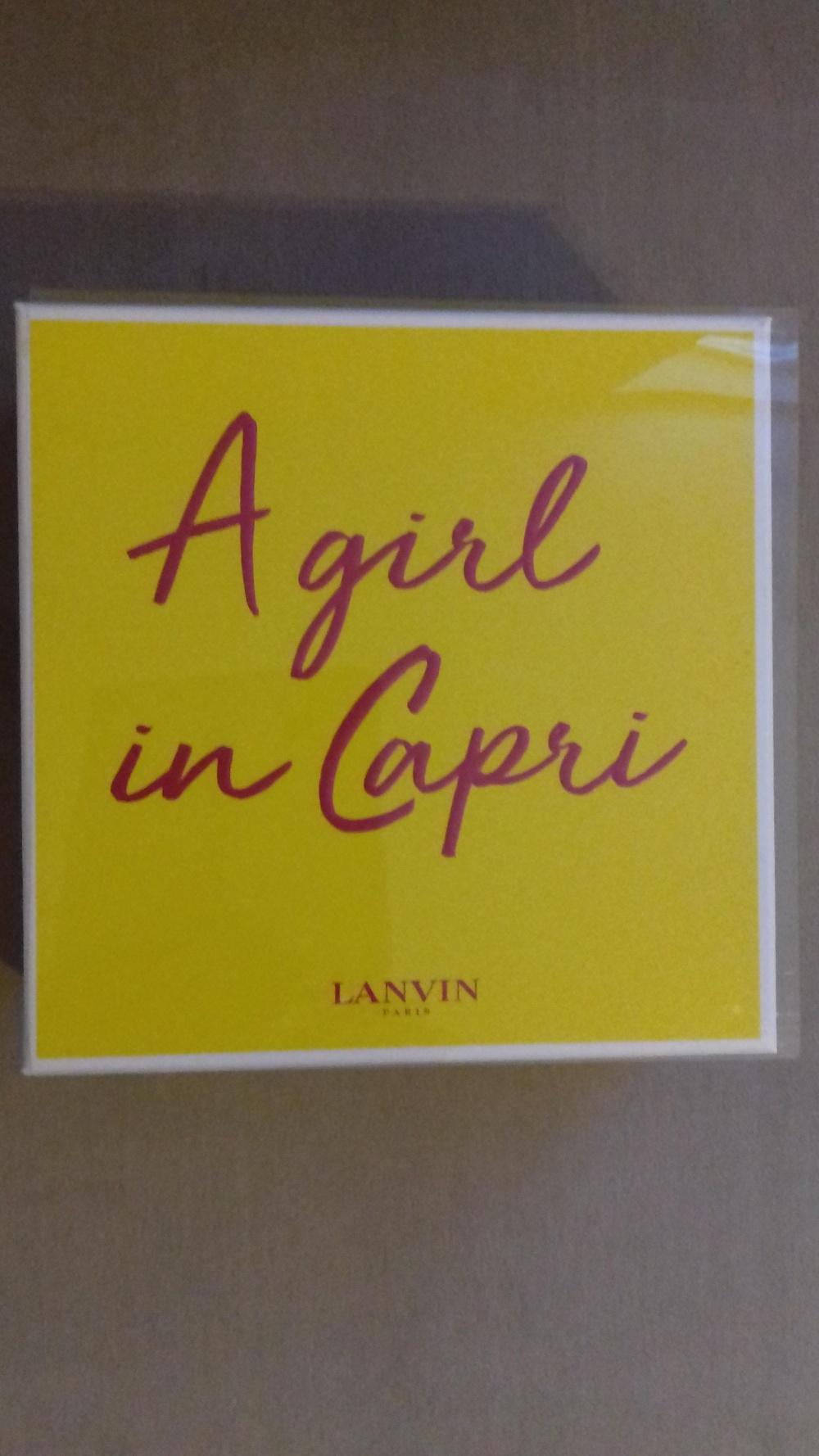 Парфюмерный набор LANVIN, A GIRL IN CAPRI, Туалетная вода 50 мл. и  Лосьон для тела 100 мл.
