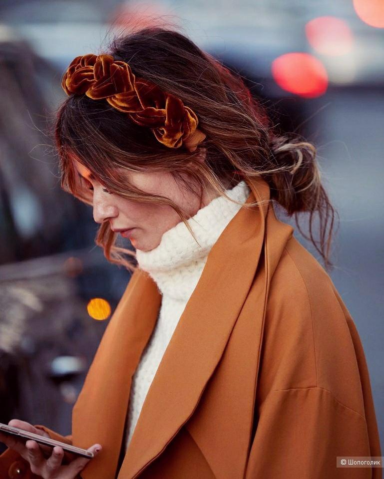 Ободок, обруч для волос (терракотовый), No name