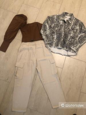 Сет (Брюки Massimo Dutti, куртка Zara, топ ASOS) на 42 размер.