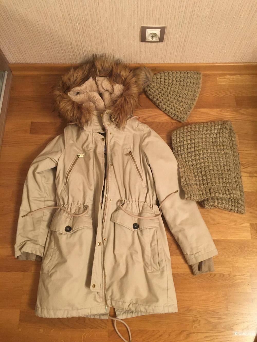 Сет: парка paul @ bear xs; шапка и шарф la florentina