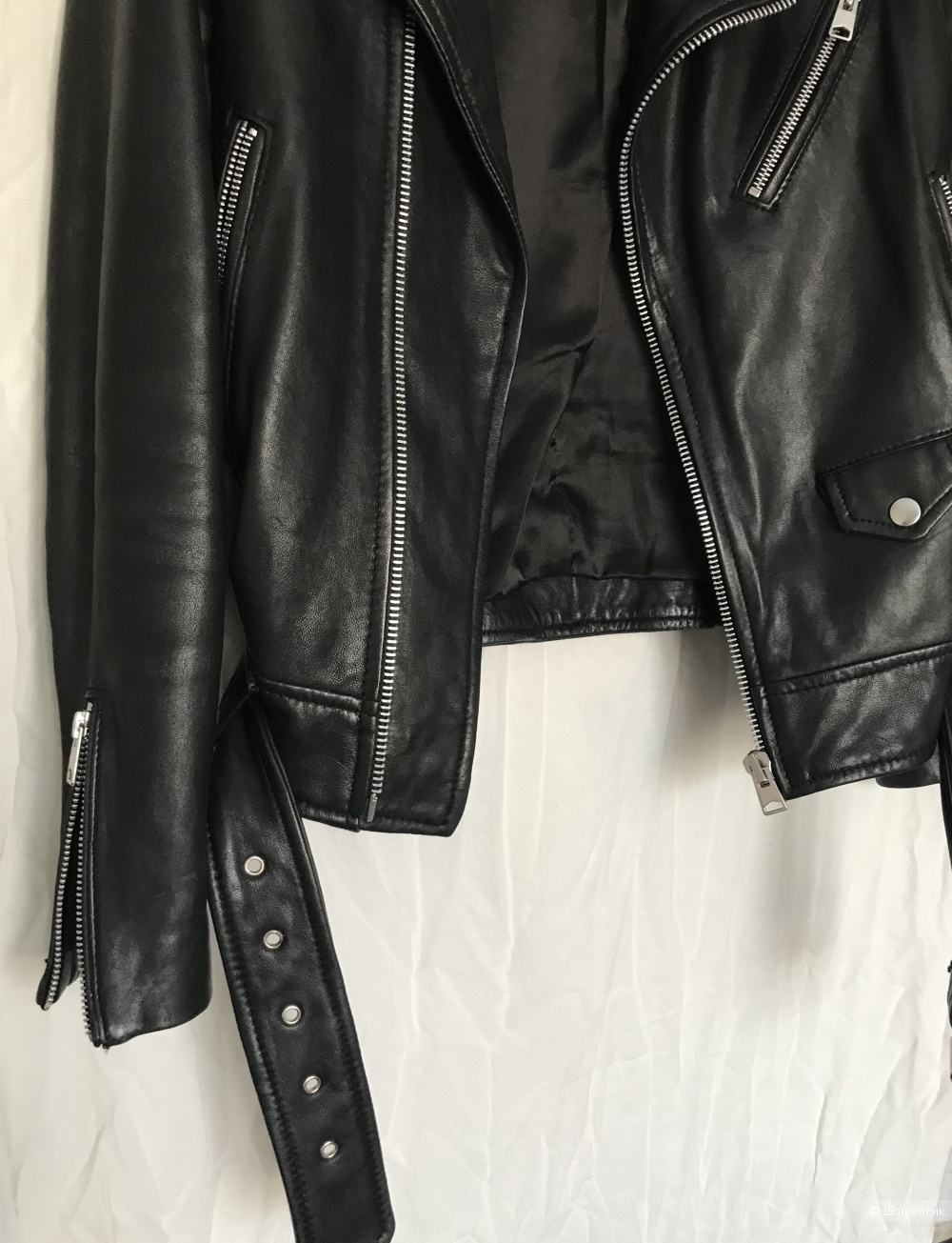 Кожаная куртка-косуха Mango, размер S