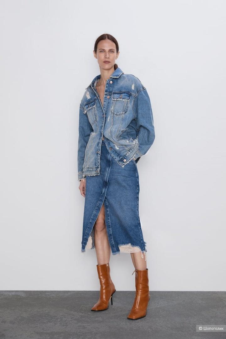 Джинсовая юбка Zara, размер М.