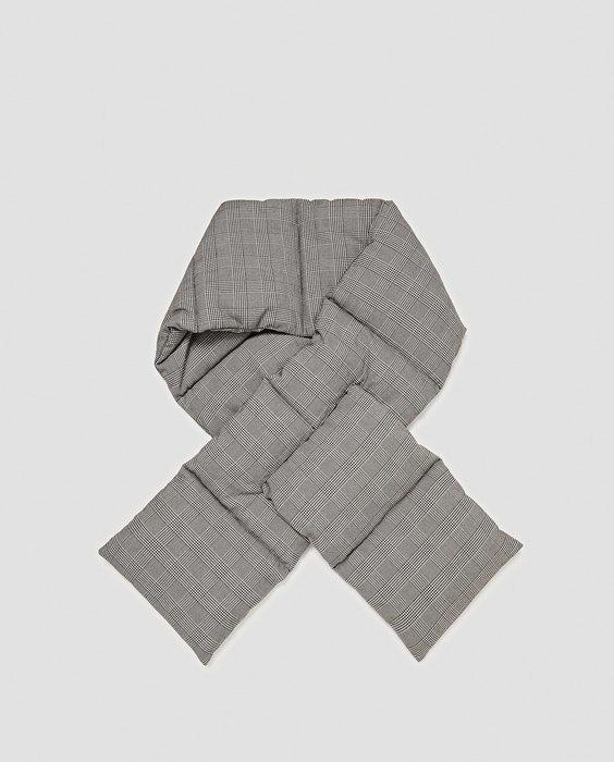 Zara шарф стёганный