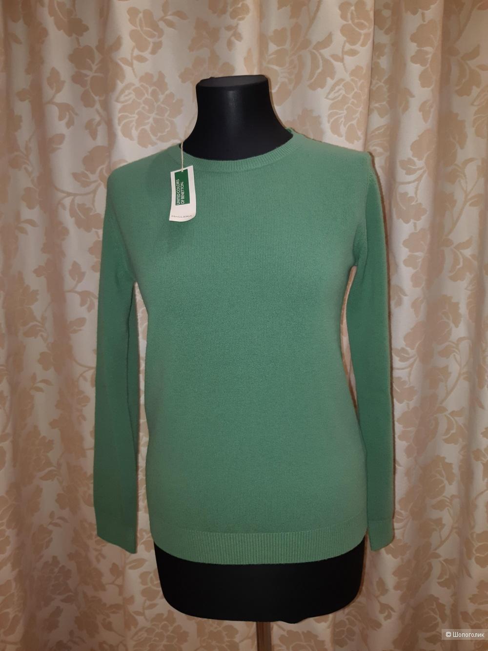 Новый шерстяной пуловер benetton, размер m