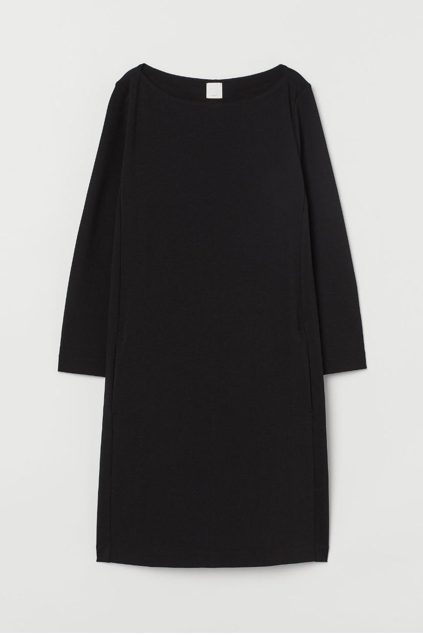 Трикотажное платье H&M, размер S