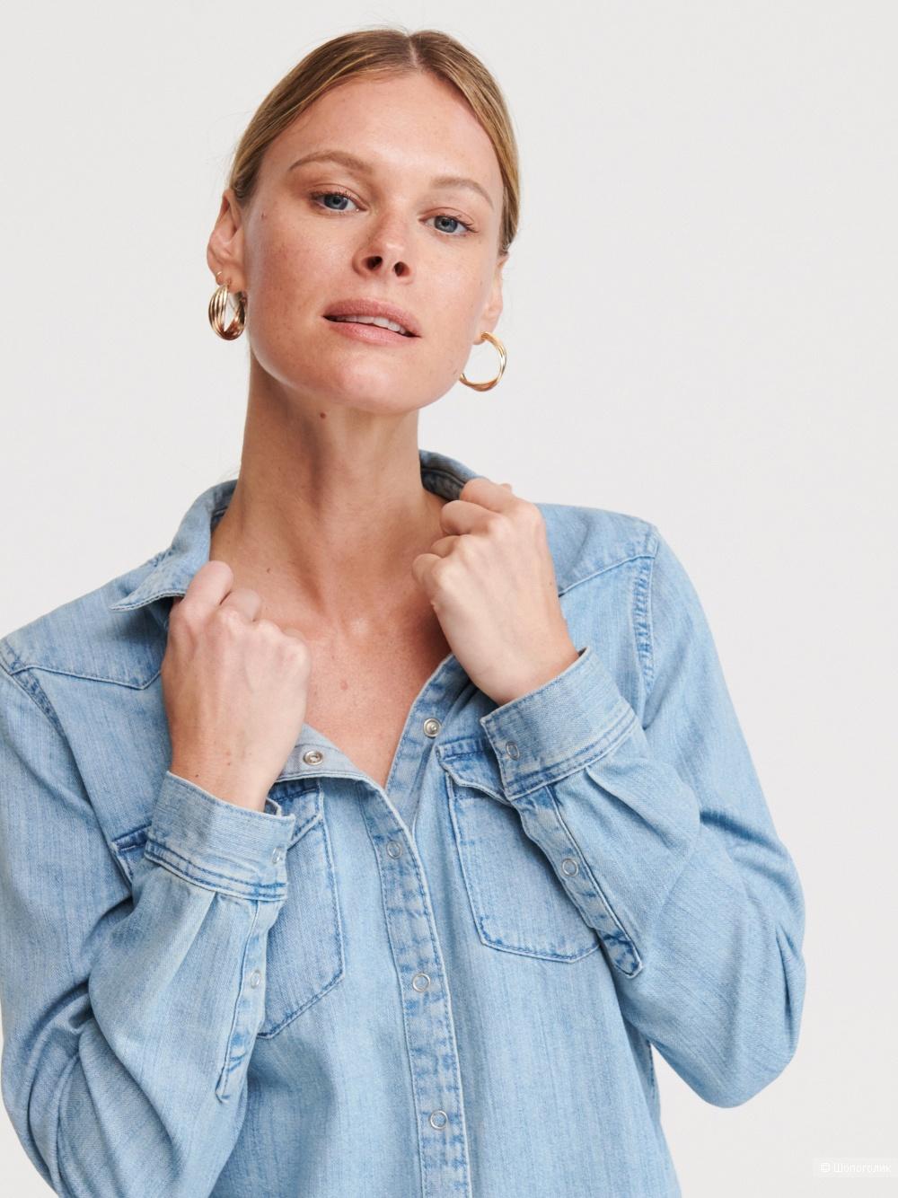 Джинсовая рубашка RESERVED  размер L