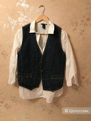 Сет рубашка для беременных H&M линия МАМА,жилет джинсовый No Name,44-46рус