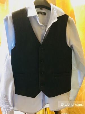 Комплект рубашка Platin club+жилет Choupette-140 cм