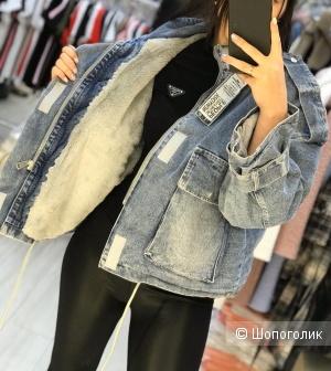 Джинсовая куртка Jeans, oversize.