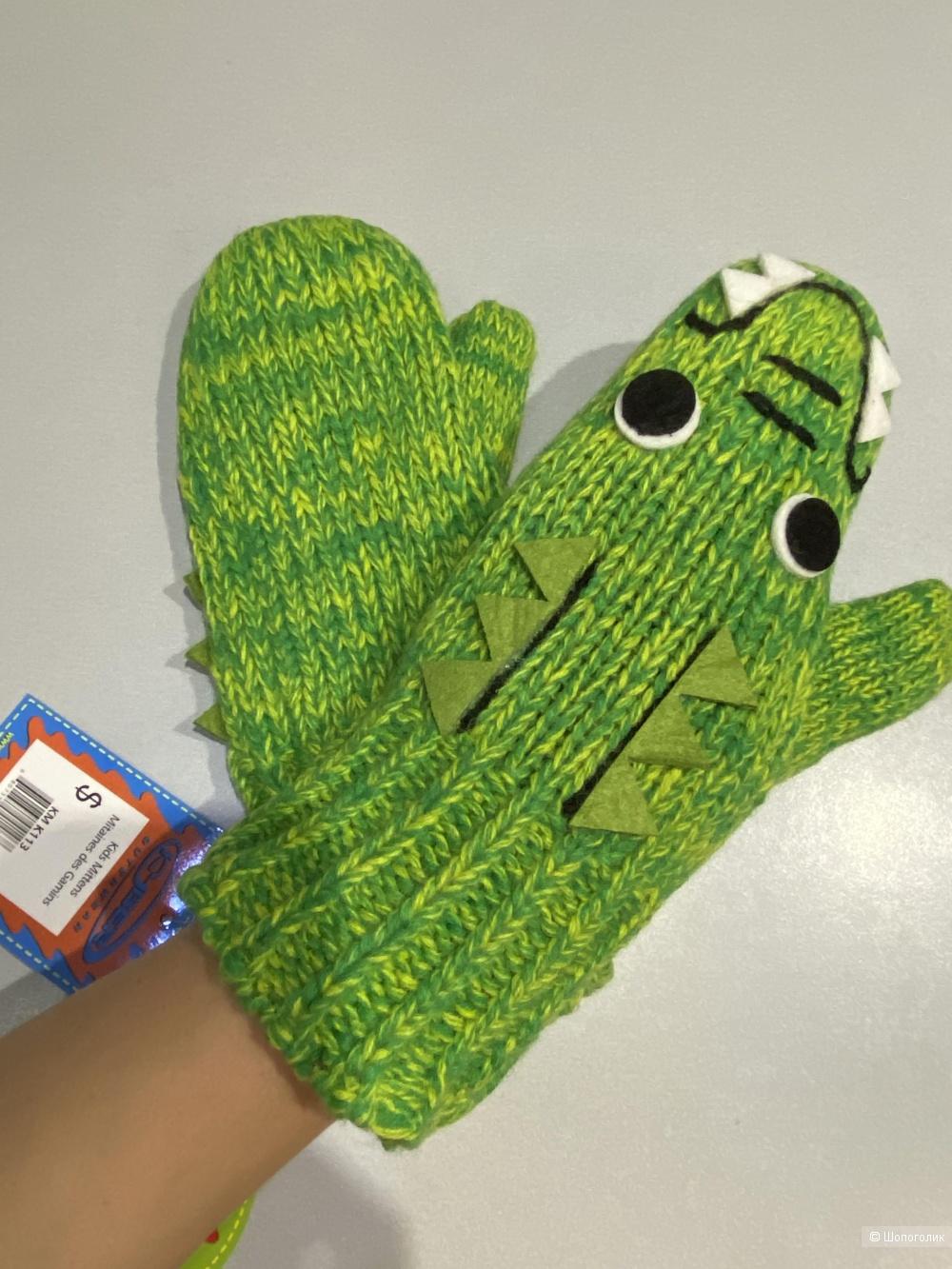 """Варежки Kyber outerwear """"Крокодильчики"""", размер  S"""