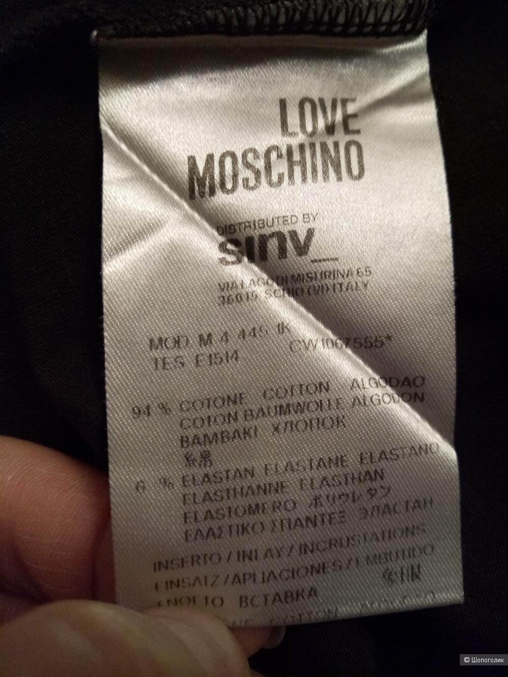 Лонгслив LOVE MOSCHINO, размер 46-48 рос