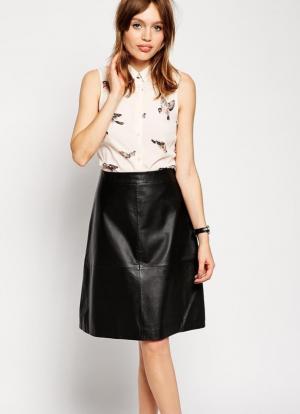 Кожаная юбка ASOS размер 4 (UK)