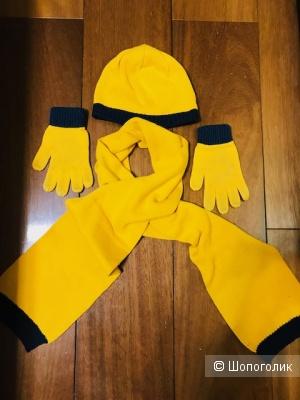 Комплект Dpam шапка+шарф- 7-9 лет