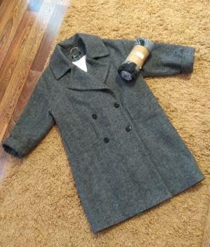 Набор пальто + палантин Maktub ,  размер oversize