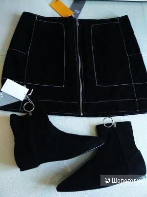 Сет юбка и ботинки H&M premium quality размер 40/39