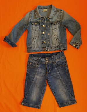 Сет из куртки и джинсов,4-5 лет.
