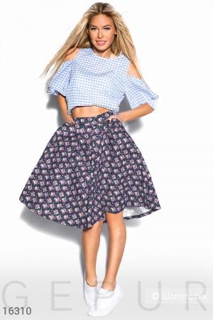 Элегантная юбка-клеш с двумя карманами по бокам
