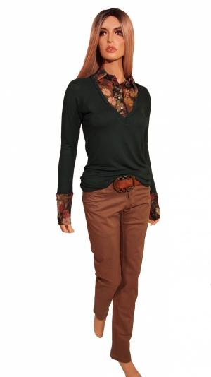 Комплект:  джемпер ARTIGLI (размер 42-44S/М) + джинсы BlendShe (размер 27/28)