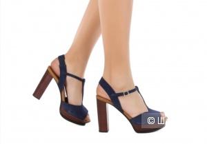 Синие кожаные босоножки SEE BY CHLOE, 39 размер (маломерки)