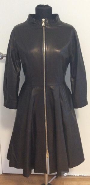 Кожаный плащ-платье Via Condotti р.46