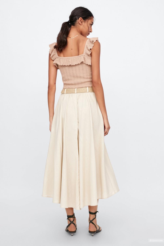 Льняная юбка Zara, размер S