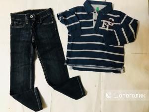 Комплект Levis джинсы+ поло Benneton - 5 лет