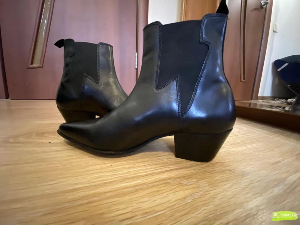 Мужские казаки/ботинки на кубинском каблуке. ASOS. 42 размер.