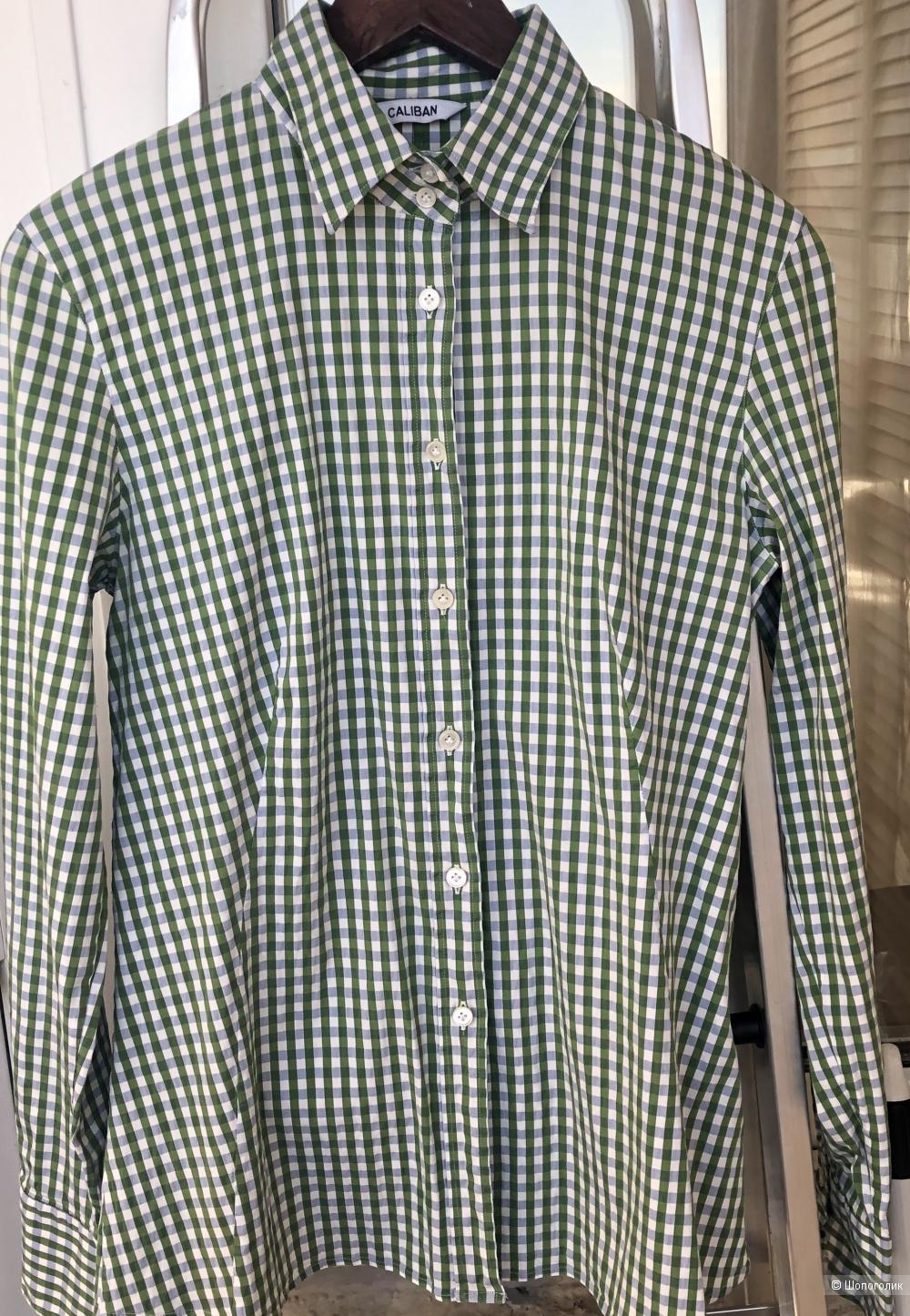 Зеленая рубашка  CALIBAN размер 48  ( на 46-48 российский )