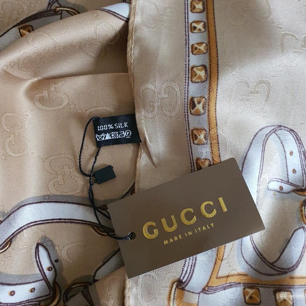 Платок Gucci шелк песочный