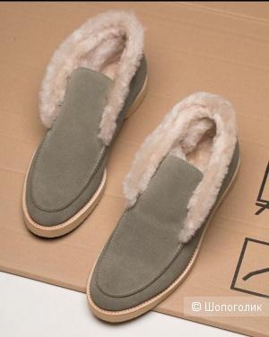 Замшевые ботинки, 37 размер