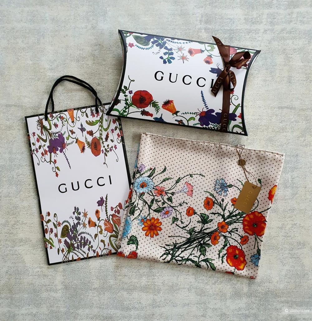 Платок Gucci шелк айвори