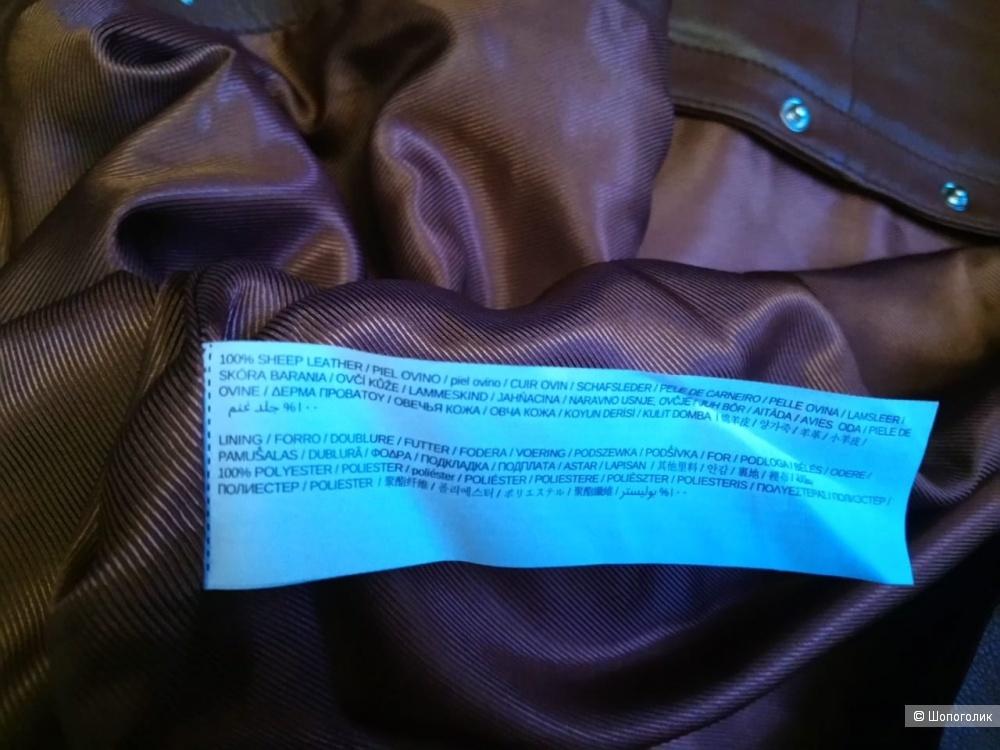 Кожаная юбка mango, размер L