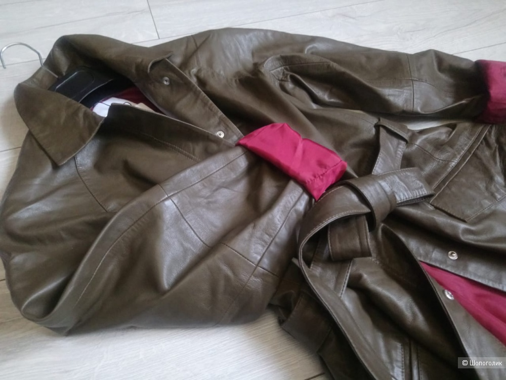 Кожаный плащ/пальто mango, размер M/S