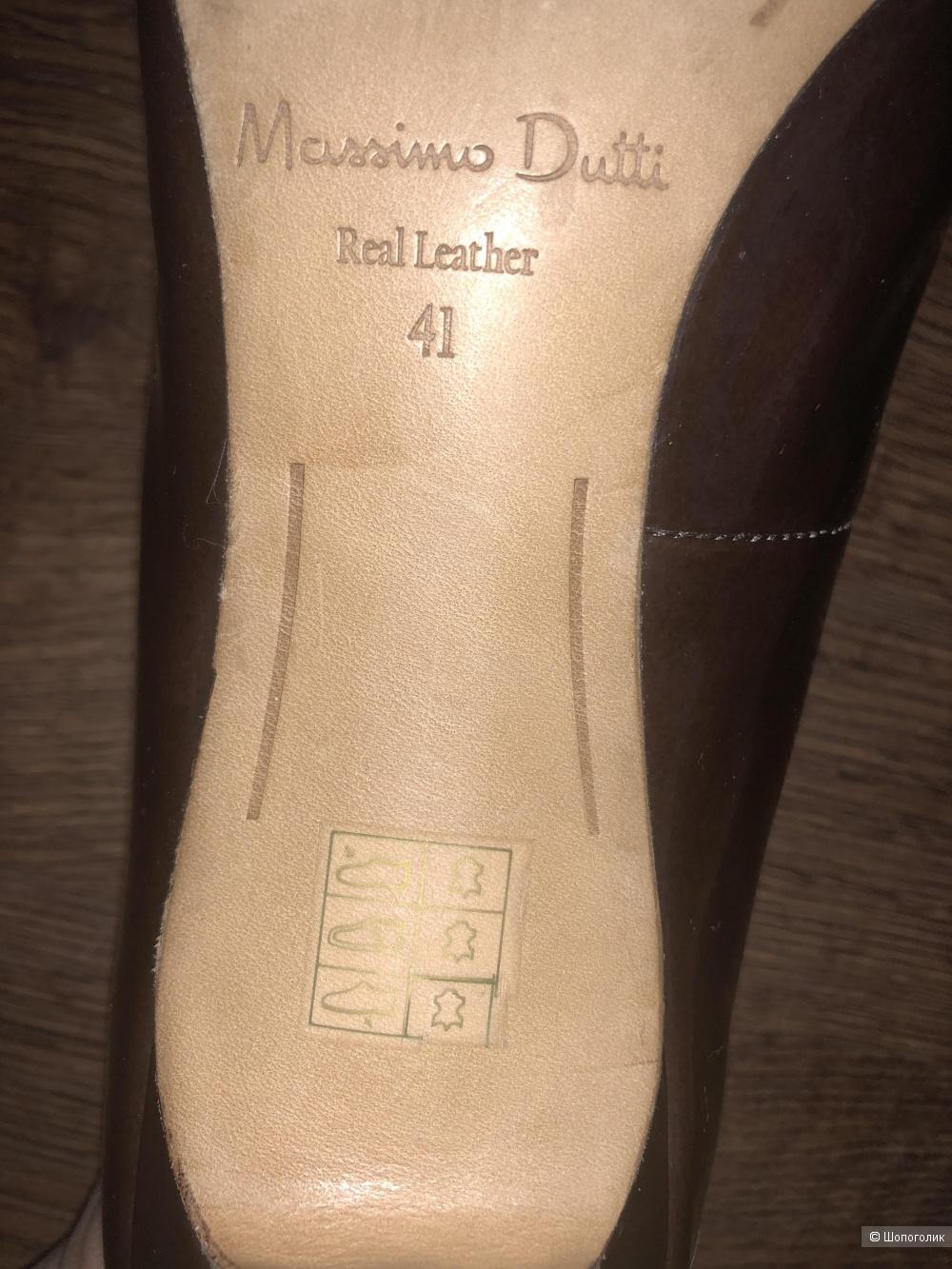Лаковые туфли Massimo Dutti, р.41