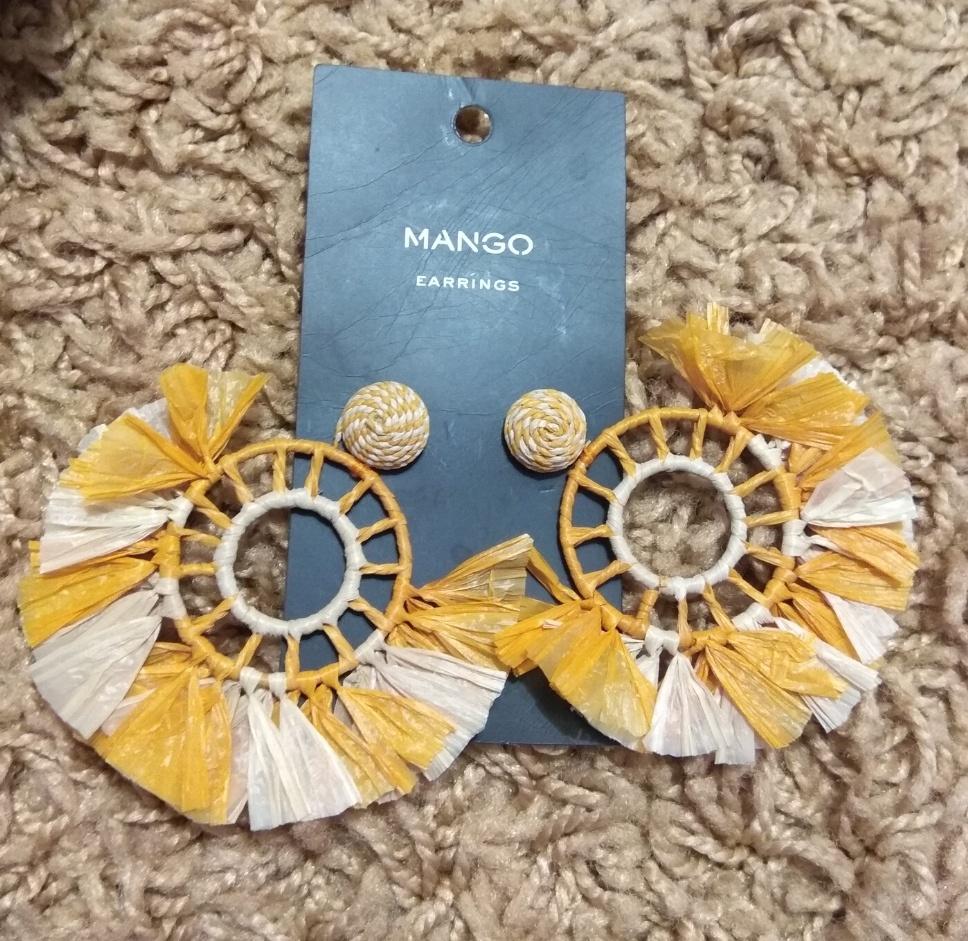 Сумка-корзинка + серьги No name , Mango размер one size