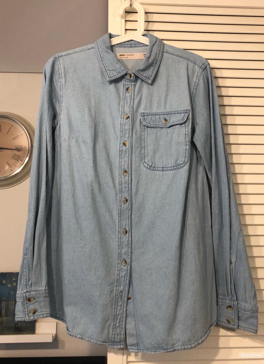 Джинсовая рубашка Asos, размер 10 uk ( 42-44 рус.)