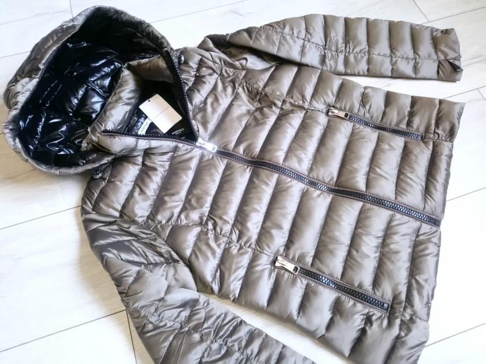 Стеганая куртка анорак с капюшоном  mango, размер М