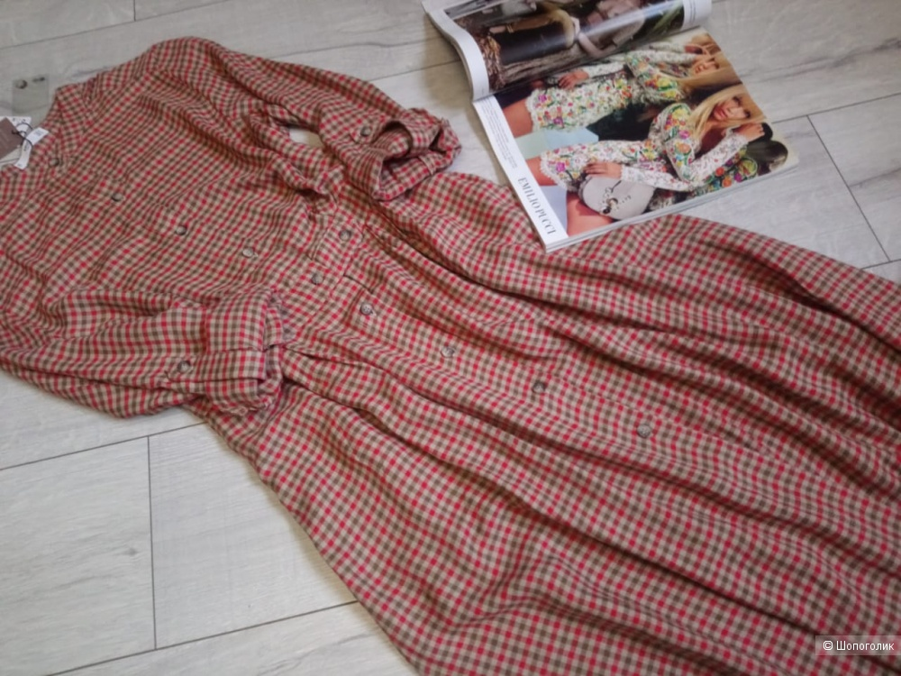 Платье со льном mango, размер М