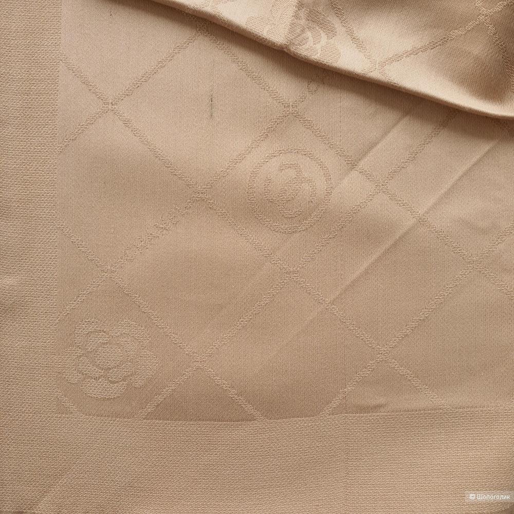 Палантин Chanel с люрексом бежевый
