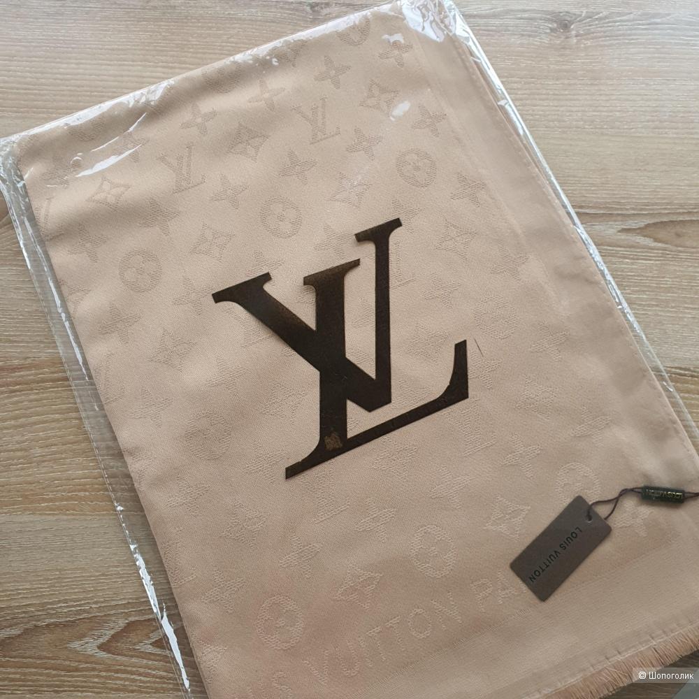 Палантин Louis Vuitton с люрексом бежевый