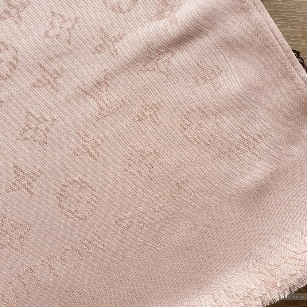 Палантин Louis Vuitton с люрексом розовый