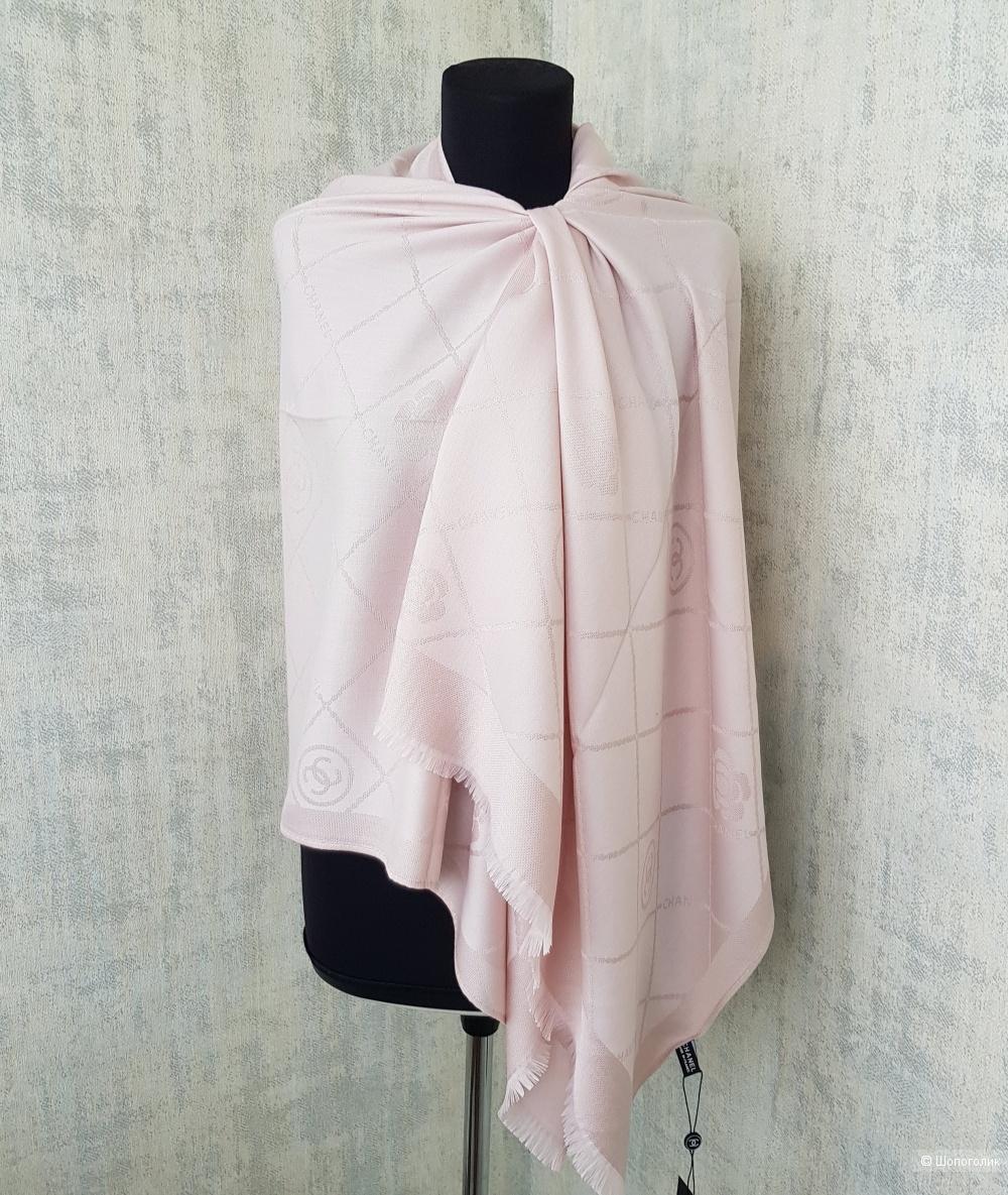 Палантин Chanel с люрексом розовый