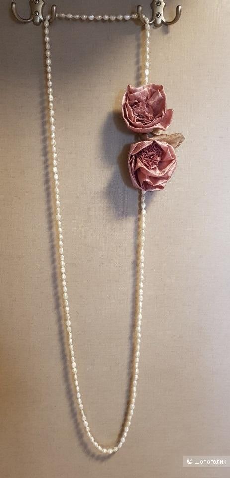 Жемчужное ожерелье No Name. Длина 180 см