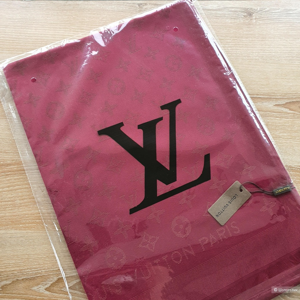 Палантин Louis Vuitton с люрексом бордовый